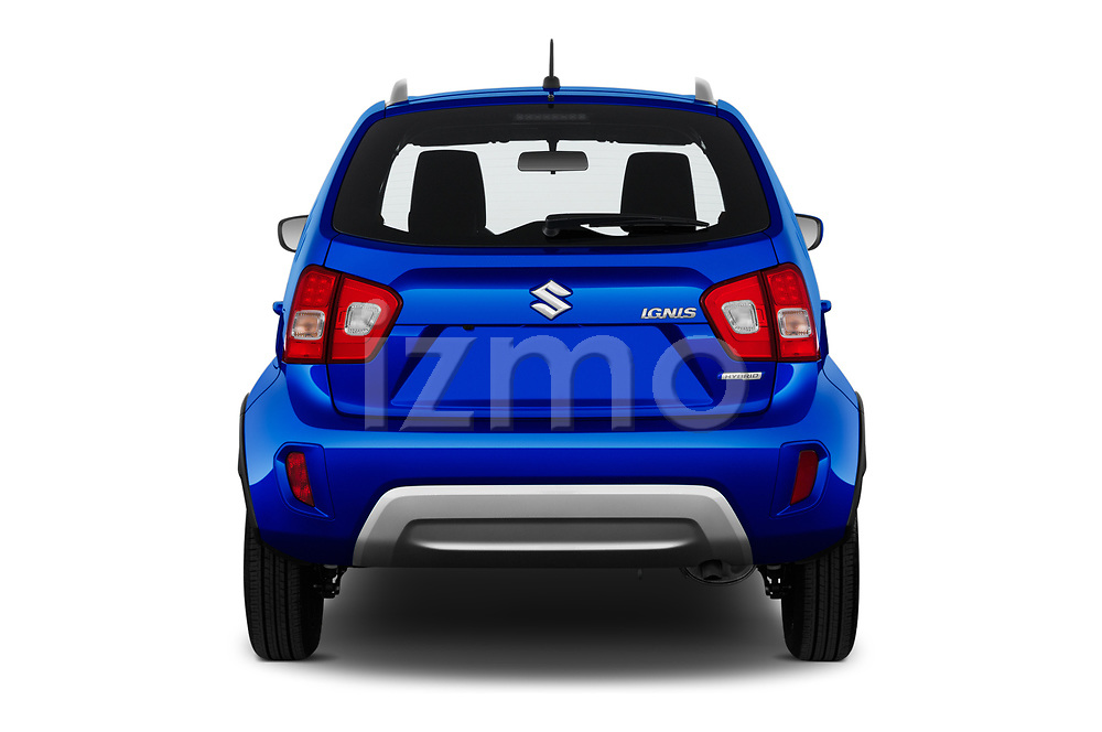 Straight rear view of 2020 Suzuki Ignis GL+ 5 Door Hatchback Rear View  stock images