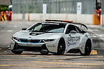 The BMW i8 is used as a safety car for the Formula E race during the first race of the FIA Formula E Championship 2016-17 season HKT Hong Kong ePrix at the Central Harbourfront Circuit on 9 October 2016, in Hong Kong, China. Photo by Victor Fraile / Power Sport Images