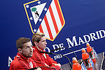 Atletico de Madrid's Gabi Fernandez (l) and Fernando Torres in press conference  after Champions League 2015/2016 Semi-Finals 1st leg match. April 26,2016. (ALTERPHOTOS/Acero)
