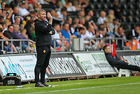 11th September 2021; Swansea.com Stadium, Swansea, Wales; EFL Championship football, Swansea versus Hull City; Grant McCann manager of Hull City gestures to his players