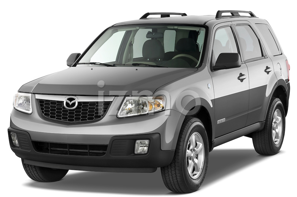 Front three quarter view of a 2009 Mazda Tribute Hybrid.