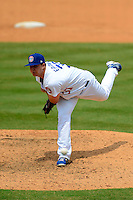 Chattanooga Lookouts pitcher Eric Eadington #37 during a game against the Birmingham Barons on April 17, 2013 at AT&T Field in Chattanooga, Tennessee.  Chattanooga defeated Birmingham 5-4.  (Mike Janes/Four Seam Images)