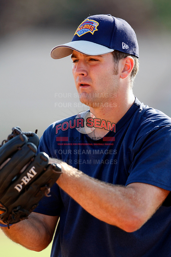 August 6, 2009:  Pitcher Mark Cohoon of the Brooklyn Cyclones during a game at Dwyer Stadium in Batavia, NY.  The Cyclones are the Short-Season Class-A affiliate of the New York Mets.  Photo By Mike Janes/Four Seam Images