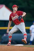 Johnson City relief pitcher Steven Hill (34) in action versus Burlington at Burlington Athletic Park in Burlington, NC, Saturday, August 25, 2007.