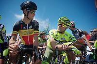 Heistse Pijl 2013<br /> <br /> Tom Boonen (BEL) & buddy Kevin Hulsmans (BEL) at the start