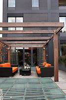 The two-storey 11,500 sq. ft. brick building is located in the West Historic District of Tribeca in New York City.