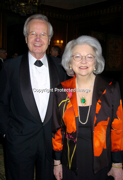 Bill Moyers and wife Judith ..at the 2004 Pen Literary Dinner and the Presentation of Free Expression Awards  on April 20, 2004 at The ..Pierre Hotel in New York City. ..Photo by Robin Platzer, Twin Images
