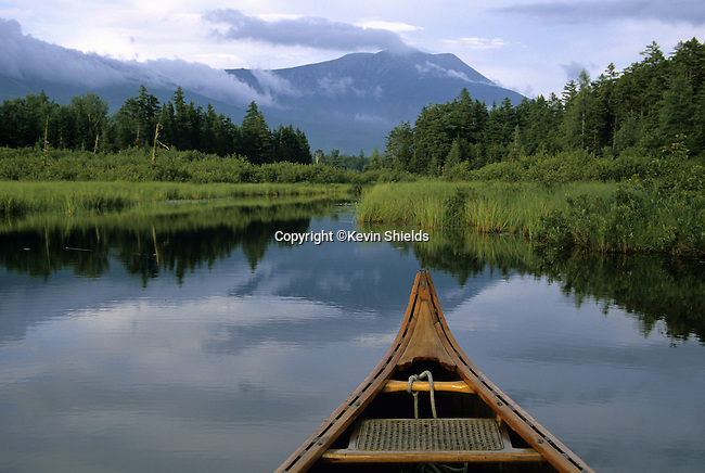 Canoeing in Kidney Pond, Baxter State Park, Maine, USA