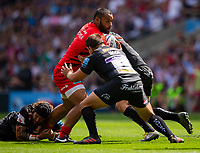 Saracens' Billy Vunipola in action during todays match<br /> <br /> Photographer Bob Bradford/CameraSport<br /> <br /> Gallagher Premiership Final - Exeter Chiefs v Saracens - Saturday 1st June  2018 - Twickenham Stadium - London<br /> <br /> World Copyright © 2019 CameraSport. All rights reserved. 43 Linden Ave. Countesthorpe. Leicester. England. LE8 5PG - Tel: +44 (0) 116 277 4147 - admin@camerasport.com - www.camerasport.com