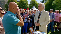 BNPS.co.uk (01202 558833)<br /> Pic: AntiquesRoadshow<br /> <br /> Shock and awe - Roger hears his £35 watch is worth £40,000...<br /> <br /> £40,000 Antiques Roadshow suprise find heads for auction...<br /> <br /> An extremely rare watch a British seaman bought for £35 as a 21st birthday present in the Far East is now tipped to sell for a whopping £40,000.<br /> <br /> There were only 50 red hand 'Ultraman' Speedmasters ever made, and unknown to Roger he had bought one nearly 50 years ago.<br /> <br /> Now retired, Roger Cooper(71) acquired the Omega Speedmaster new while serving in the Merchant Navy on the steamer 'Chitral' in Hong Kong in 1968.<br /> <br /> He spent £35, almost a month's wage at the time, on the timepiece, buying it from a wholesaler he had become friendly with. But it has proved a shrewd investment as it has increased over 1,000 times in value in the intervening five decades.<br /> <br /> Grandfather of two Mr Cooper, from Havant, Hants, has now decided to auction it with Gardiner Houlgate, of Corsham, Wilts.