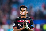 Leon Bailey of Bayer 04 Leverkusen celebrates during their 2016-17 UEFA Champions League Round of 16 second leg match between Atletico de Madrid and Bayer 04 Leverkusen at the Estadio Vicente Calderon on 15 March 2017 in Madrid, Spain. Photo by Diego Gonzalez Souto / Power Sport Images