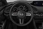 Car pictures of steering wheel view of a 2019 Mazda Mazda-3 - 5 Door Hatchback Steering Wheel