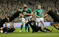 Saturday 17th November 2018 | Ireland vs New Zealand<br /> <br /> James Ryan is tackled by Kieran Read and Aaron Smith during 2018 Guinness Series between Ireland and Argentina at the Aviva Stadium, Lansdowne Road, Dublin, Ireland. Photo by John Dickson / DICKSONDIGITAL