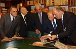 DOMENICO FISICHELLA , MARCELLO PERA E CARLO AZEGLIO CIAMPI<br /> INAUGURAZIONE NUOVA SEDE DELLA BIBLIOTECA DEL SENATO -<br /> PIAZZA DELLA MINERVA ROMA 2003