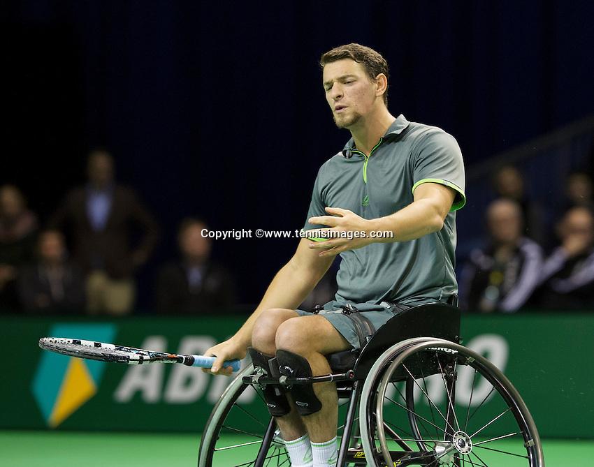 Februari 14, 2015, Netherlands, Rotterdam, Ahoy, ABN AMRO World Tennis Tournament,  Final wheelchair men Joachim Gerard (BEL)<br /> Photo: Tennisimages/Henk Koster
