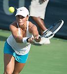 July 23,2016:   Yulia Putintseva (KAZ) loses to Yanina Wickmayer (BEL) 6-4, 6-2, at the Citi Open being played at Rock Creek Park Tennis Center in Washington, DC, .  ©Leslie Billman/Tennisclix