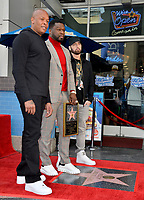 """LOS ANGELES, CA. January 30, 2020: Dr. Dre, Curtis 50 Cent Jackson & Eminem at the Hollywood Walk of Fame Star Ceremony honoring Curtis """"50 Cent"""" Jackson.<br /> Pictures: Paul Smith/Featureflash"""