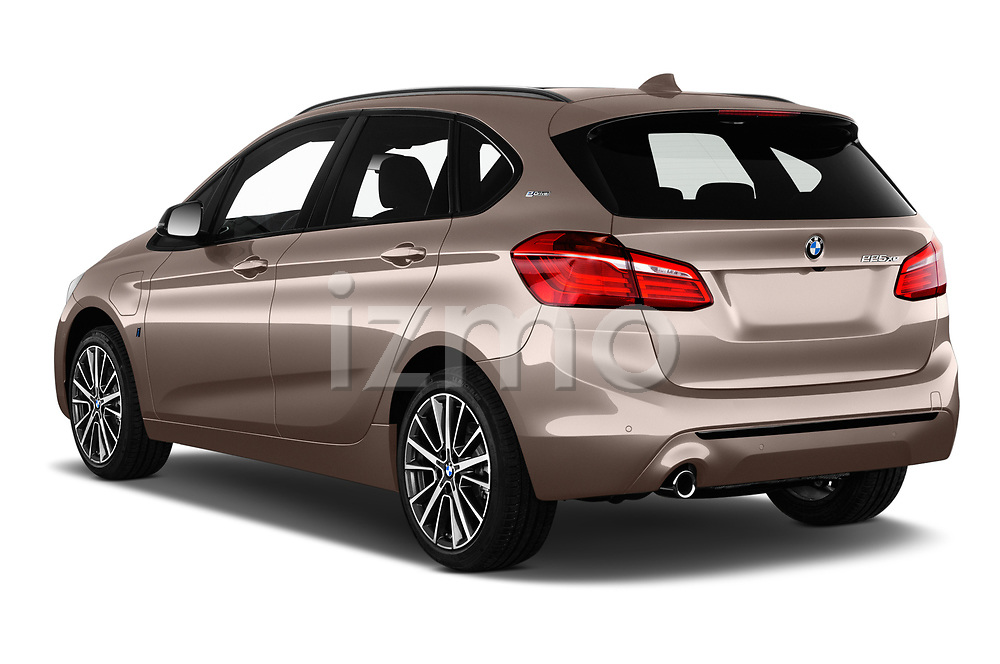 Car pictures of rear three quarter view of a 2018 BMW 2 Series 225xe iperformance 5 Door Mini Van angular rear