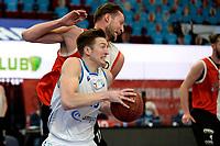 06-03-2021: Basketbal: Donar Groningen v ZZ Feyenoord: Groningen Donar speler Willem Brandwijk met /Feyenoord speler Jeroen van der List
