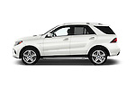 Car Driver side profile view of a 2017 Mercedes Benz GLE-Class GLE550e-4MATIC® 5 Door SUV Side View