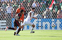 PASADENA, CA – June 25, 2011: USA player Eric Lichaj (14) during the Gold Cup Final match between USA and Mexico at the Rose Bowl in Pasadena, California. Final score USA 2 and Mexico 4.