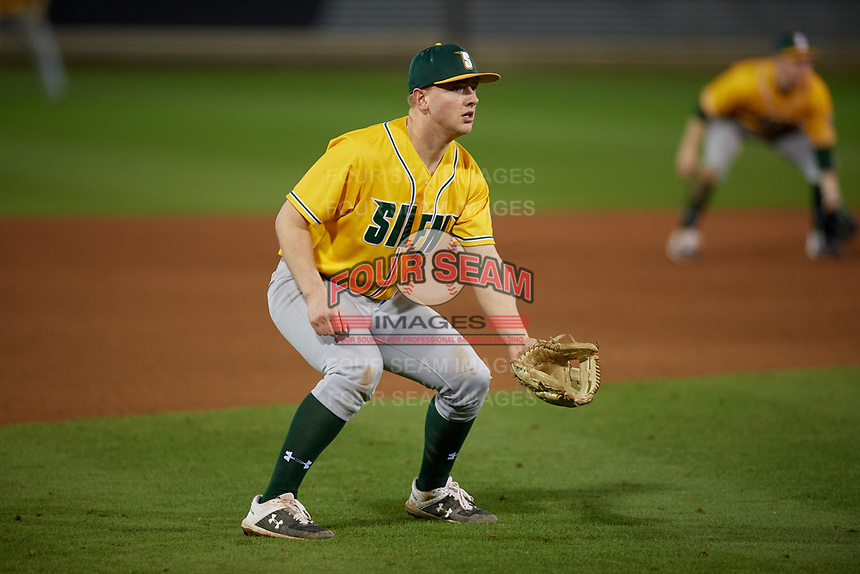 Siena Saints third baseman Pat O'Hare (17) during a game against the UCF Knights on February 14, 2020 at John Euliano Park in Orlando, Florida.  UCF defeated Siena 2-1.  (Mike Janes/Four Seam Images)