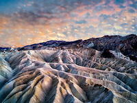 Sunset at Zabriskie Point, Death Valley National Park, California.