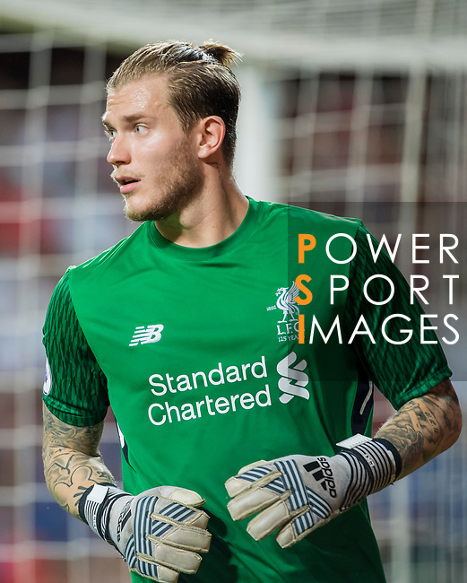 Liverpool FC goalkeeper Loris Karius reacts during the Premier League Asia Trophy match between Liverpool FC and Leicester City FC at Hong Kong Stadium on 22 July 2017, in Hong Kong, China. Photo by Weixiang Lim / Power Sport Images