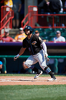 Akron RubberDucks Wilson Garcia (11) at bat during an Eastern League game against the Erie SeaWolves on June 2, 2019 at UPMC Park in Erie, Pennsylvania.  Erie defeated Akron 8-5 in eleven innings of the second game of a doubleheader.  (Mike Janes/Four Seam Images)