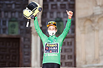 Defending Champion Primoz Roglic (SLO) Jumbo-Visma wins Stage 1 and also wears the first points Green Jersey of La Vuelta d'Espana 2021, a 7.1km individual time trial around Burgos, Spain. 14th August 2021.    <br /> Picture: Luis Angel Gomez/Photogomezsport | Cyclefile<br /> <br /> All photos usage must carry mandatory copyright credit (© Cyclefile | Luis Angel Gomez/Photogomezsport)