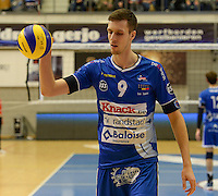 20161228 - ROESELARE ,  BELGIUM : Roeselare's Arno Van De Velde pictured during the second semi final in the Belgian Volley Cup between Knack Volley Roeselare and Lindemans Aalst in Roeselare , Belgium , Wednesday 28 th December 2016 . PHOTO SPORTPIX.BE   DAVID CATRY