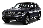 2018 BMW X3 xLine-4wd 5 Door SUV Angular Front automotive stock photos of front three quarter view