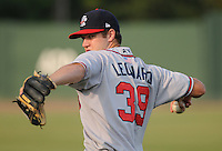 Infielder Joe Leonard (39) of the Rome Braves in a game against the Greenville Drive Aug. 9, 2010, at Fluor Field at the West End in Greenville, S.C. Gosselin was the Atlanta Braves' 3rd round pick in the 2010 Draft. Photo by: Tom Priddy/Four Seam Images
