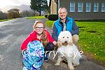 Dan and Livia Buotkalas and Gino the dog enjoying a stroll in Killarney National Park on Saturday.