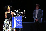 Lauren Ridloff and Daniel N. Durant during the 74th Annual Theatre World Awards at Circle in the Square on June 4, 2018 in New York City.
