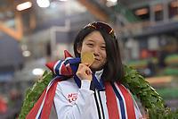 SPEEDSKATING: HAMAR: Vikingskipet, 29-02-2020, ISU World Speed Skating Championships, Sprint, World Champions, Miho Takagi (JPN), ©photo Martin de Jong