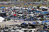 2017 NASCAR Monster Energy Cup Series - Daytona 500<br /> Daytona International Speedway, Daytona Beach, FL USA<br /> Sunday 26 February 2017<br /> Denny Hamlin, FedEx Express Toyota Camry and Jamie McMurray<br /> World Copyright: Nigel Kinrade/LAT Images<br /> <br /> ref: Digital Image 17DAY2nk14119