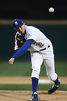 Chris Reed #32 of the Rancho Cucamonga Quakes pitches against the Lancaster JetHawks at The Epicenter on April 11, 2012 in Rancho Cucamonga,California.  Rancho Cucamonga defeated Lancaster 6-5.(Larry Goren/Four Seam Images)