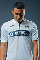 Pictured: Jefferson Montero. Thursday 29 August 2018<br />Re: Swansea City FC player and staff profile photo-shoot at Fairwood Training Ground, Wales, UK