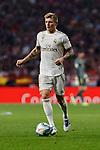 Toni Kroos of Real Madrid during La Liga match between Atletico de Madrid and Real Madrid at Wanda Metropolitano Stadium in Madrid, Spain. September 28, 2019. (ALTERPHOTOS/A. Perez Meca)