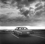 1977. Cadillac Mountain, Acadia National Park, Maine.  1974 Cadillac. Waiting for a sunset.