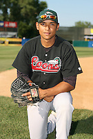 Eduardo Perez of the Great Lakes Loons during the Midwest League All-Star game.  Photo by:  Mike Janes/Four Seam Images