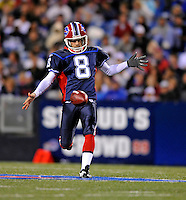 28 August 2008:  Buffalo Bills' punter Brian Moorman in action against the Detroit Lions at Ralph Wilson Stadium in Orchard Park, NY. The Lions defeated the Bills 14-6 in their fourth and final pre-season game...Mandatory Photo Credit: Ed Wolfstein Photo