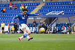 St Johnstone v St Mirren……29.08.20   McDiarmid Park  SPFL<br />Craig Conway fires over the bar<br />Picture by Graeme Hart.<br />Copyright Perthshire Picture Agency<br />Tel: 01738 623350  Mobile: 07990 594431