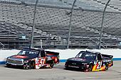 #51: Chandler Smith, Kyle Busch Motorsports, Toyota Tundra JBL, #21: Zane Smith, GMS Racing, Chevrolet Silverado Cystic Fibrosis Foundation