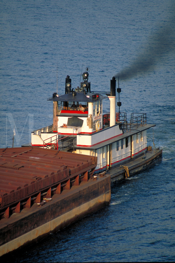 Coal barges continue to ply the rivers at Pittsburgh. Pittsburgh Pennsylvania United States Ohio River.