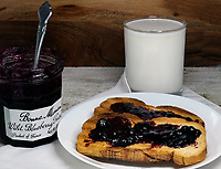 Blueberry Preserves on Toast<br /> Photo By Adam Scull/PHOTOlink.net