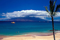 Makena, Maui.  The beach lies in front of the Maui Prince Hotel.