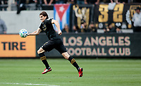 LOS ANGELES, CA - MARCH 01: Dejan Jakovic #5 of the LAFC moves with the ball during a game between Inter Miami CF and Los Angeles FC at Banc of California Stadium on March 01, 2020 in Los Angeles, California.