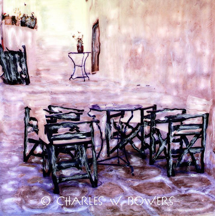 Family dinner is coming soon to the now lonely tables. An evening of family fun and joy will happen and the tables and chairs will rejoice.